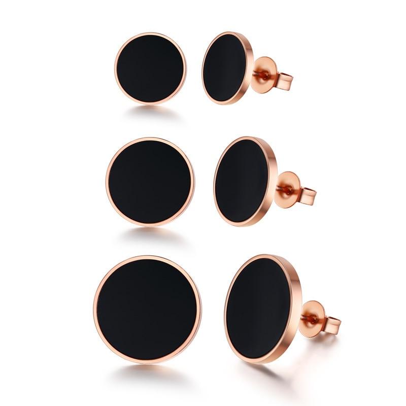Fashionable Men's Stainless Steel Black Earrings