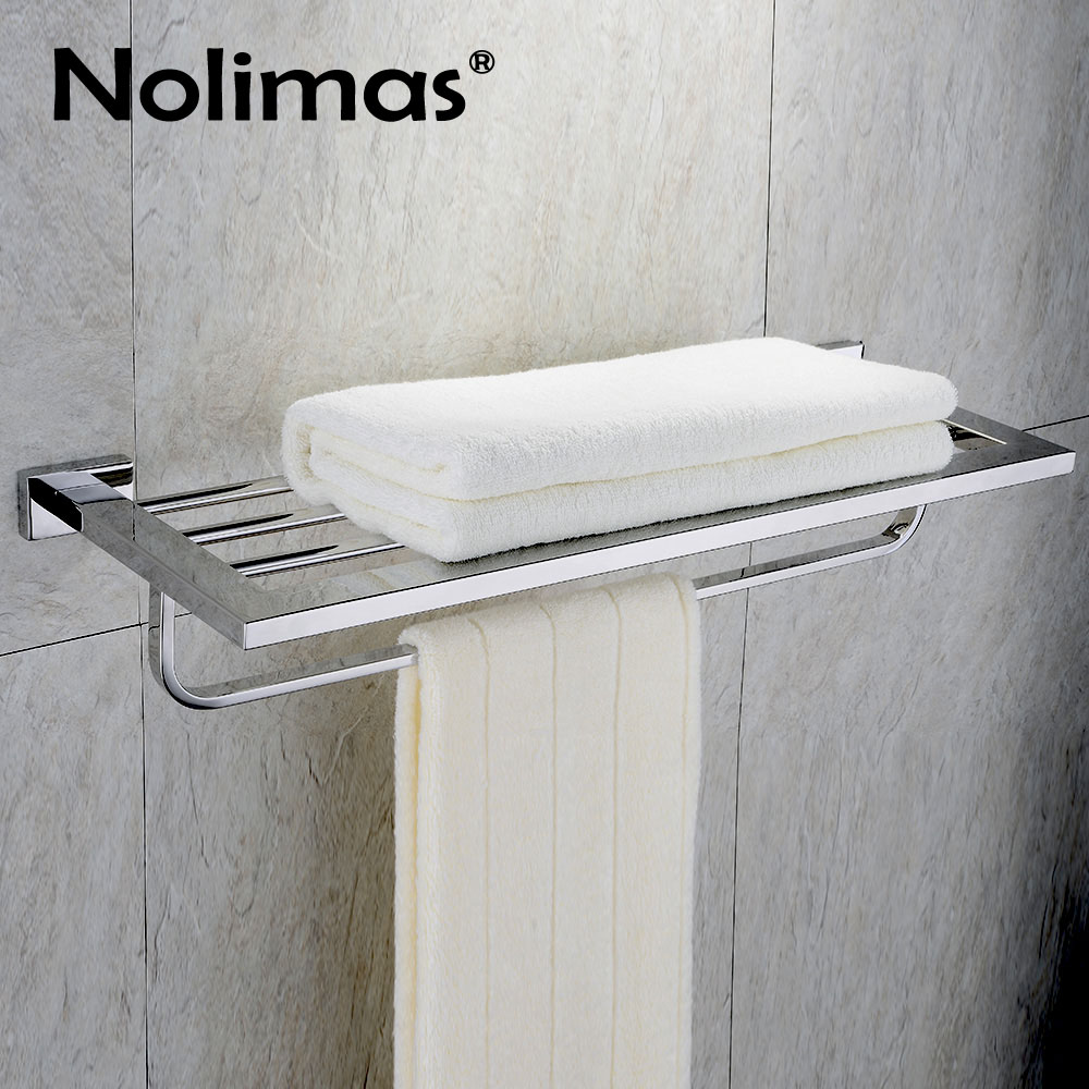 304 Stainless Steel Bathroom Towel Racks Mirror Polished Steel Toilet Shelf With Towel Bar and Brief Fixed Bathroom Accessories вытяжка встраиваемая korting khi 6530 n черный