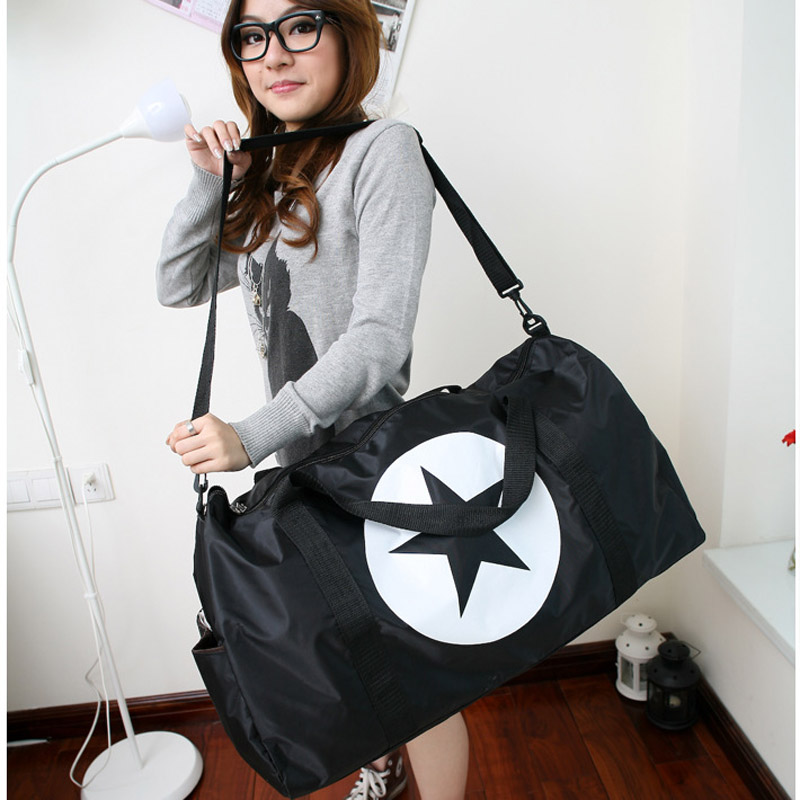 Large Unisex Travel Star Waterproof Nylon Men Women Bag Duffle Bag Light weight Handbag Shoulder Bag ...