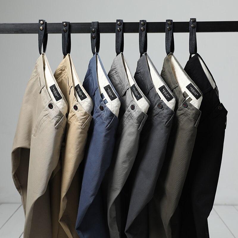 SIMWOOD 2018 Otoño e Invierno nuevos pantalones casuales de algodón de los hombres Pantalones Chinos Slim Fit pantalones de Moda hombre marca de ropa Plus tamaño