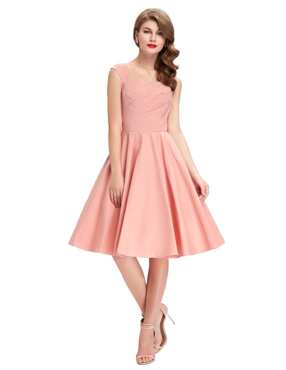 Aliexpress.com : Buy Red Pink Green Black Rockabilly Dress Casual ...