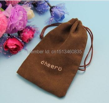 100pcs/lot free shipping small velvet jewelry pouch velvet gift pouch velvet drawstring pouch bag custom logo Iphone6 bag