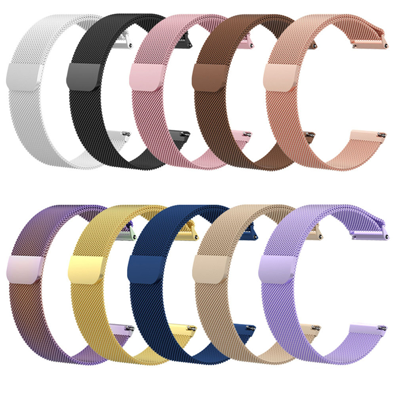 Milanese Magnetic Loop Stainless Steel Band For Fitbit Versa Watch Wristwatches Black Sliver Champagne Rose Gold Drop shipping milanese magnetic loop stainless steel band for moto 360 2nd smart watch sliver 42mm