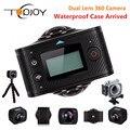 TOPJOY 360 Действий Камеры с Двумя Объективами 3008*1504 Все Вид Рыбы глаз 1920 * P @ 30fps Wi-Fi 8MP VR Спорт Cam 360 Действие Видео камера