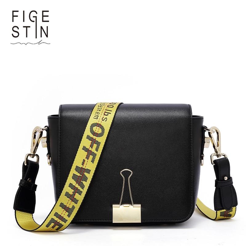 Figestin 2018 Модная брендовая сумка Разделение кожа Для женщин сумка маленькая сумка через плечо клатч для леди Off White