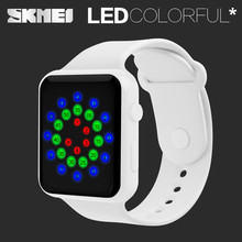 Skmei Creative PU PC Wristwatch Fashion 30M Waterproof Digital
