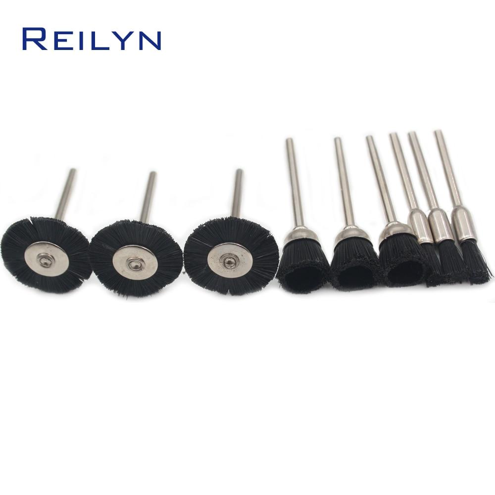 Nylon Polishing Brush Polishing Head Polishing Wheel Shank 3mm Plastic Fiber Brush Roller For Electric Grinder Or Rotary Tool