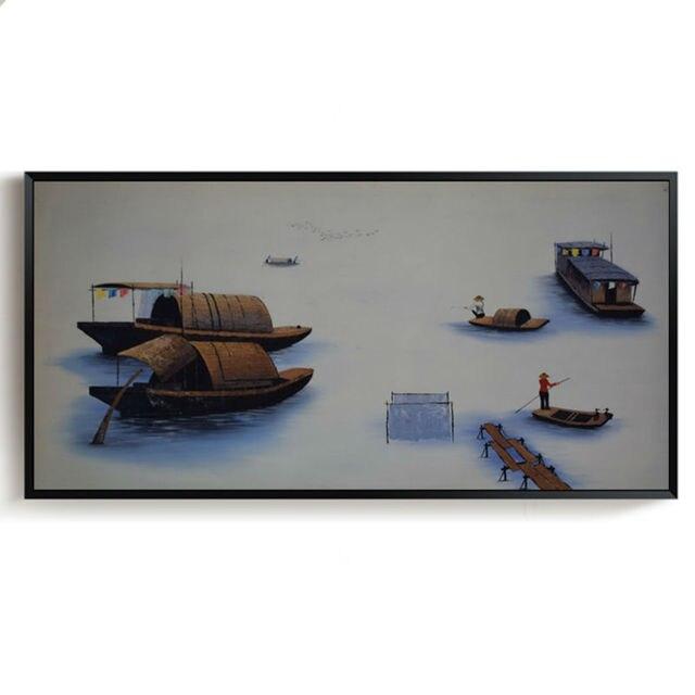 Ölgemälde Auf Leinwand Moderne Vietnam Stil Landschaft Kunst Malerei  Handgemalte Wandbilder Für Wohnzimmer Dekor Gemälde