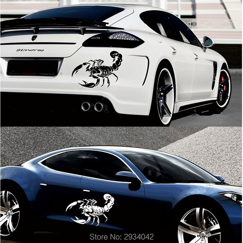 3D Car Styling Car Front Cover Cute Scorpion Car