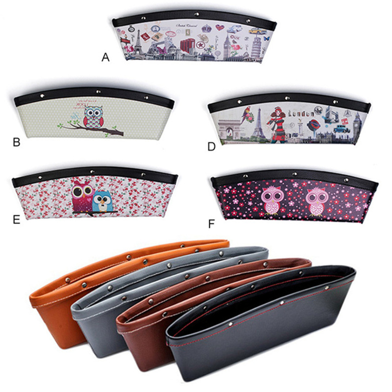 где купить 1Pcs Hot Leather Car Seat Gap Storage Bag Container Stowing Tidying Pocket Leak-proof Auto Storage Organizer Car Styling дешево