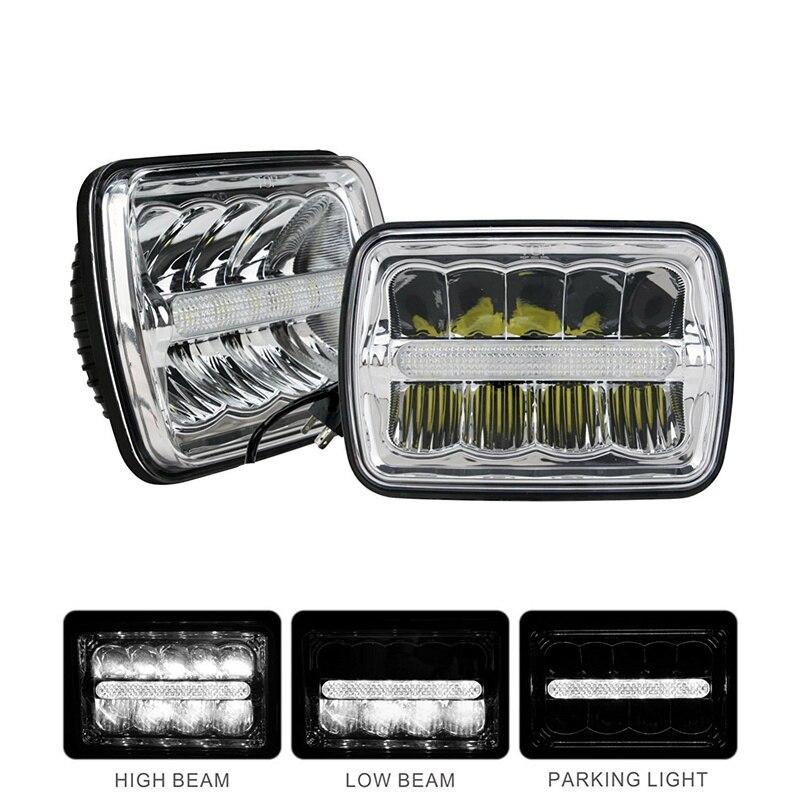 4x6 external led headlights h4 low high beams 12v 4x6 led headlights drl for peterbilt kenworth. Black Bedroom Furniture Sets. Home Design Ideas