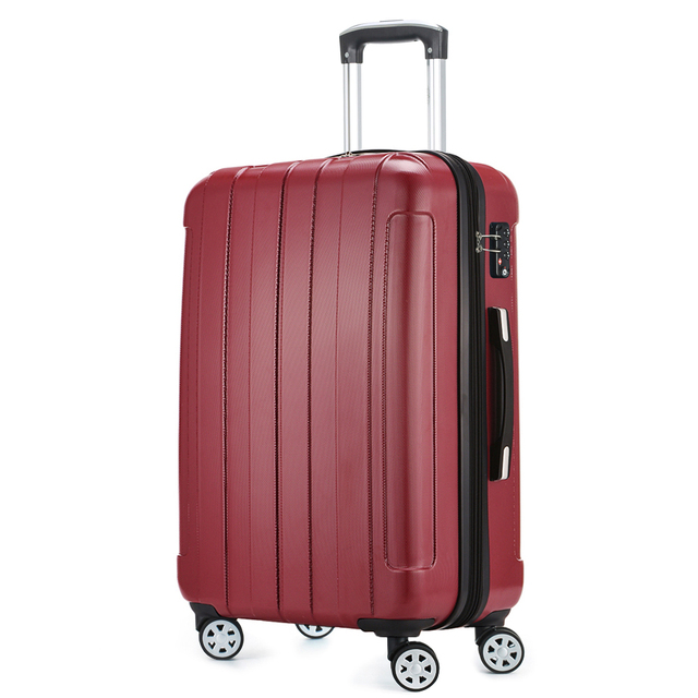 5ac83df55b65 US $128.79 |ABS PC 20 24 28 Red Waterproof Lightweight Hardside Travel  Carry on Luggage Suitcase 1 Piece Spinner 4 Wheels Fochier XQ018-in  Hardside ...