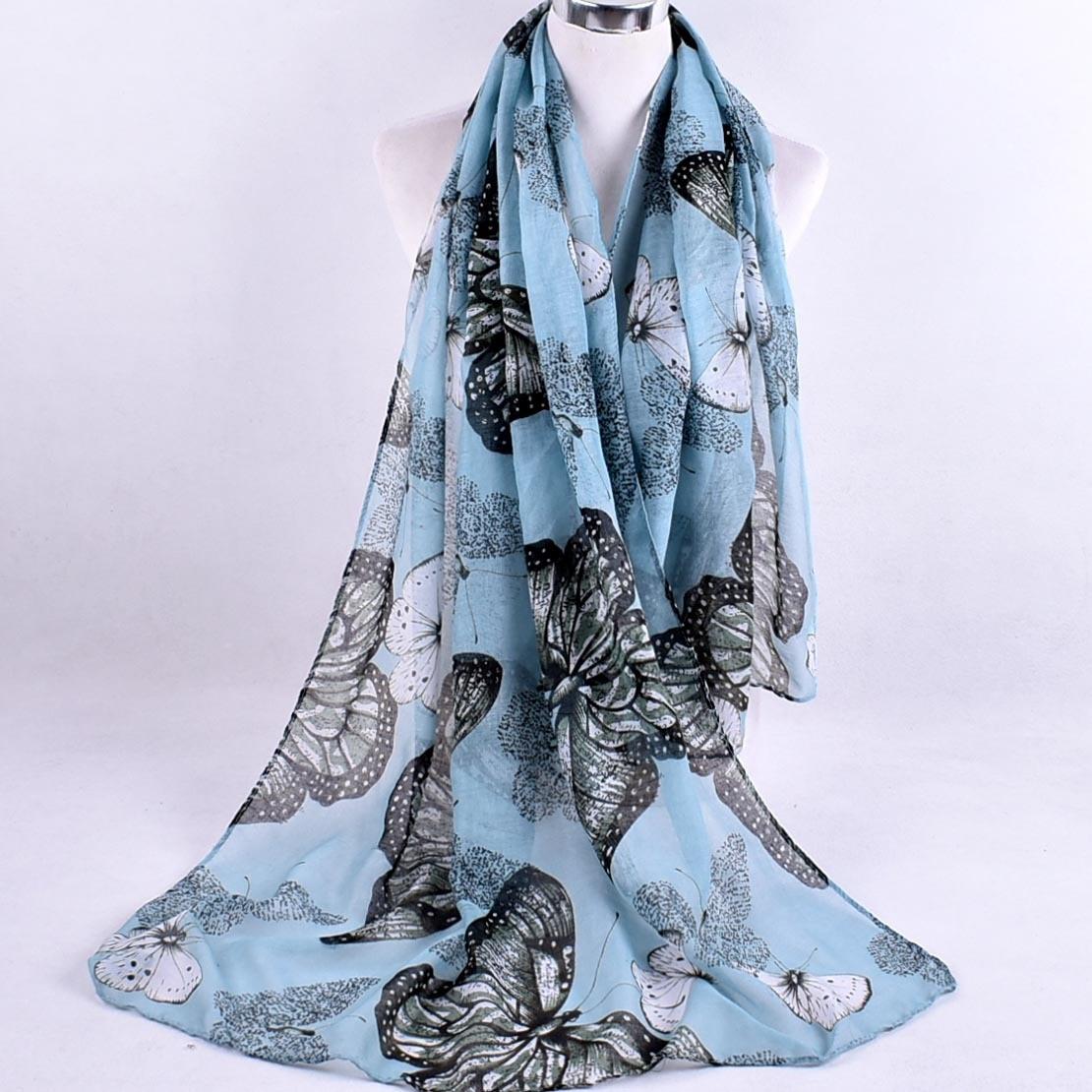 2019 Autumn Winter Fashion Retro Floral Viscose Shawl Scarf Ladies Print Voile Wrap Pashmina Stole Muslim Hijab Caps 180*90Cm