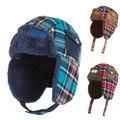 Fashion Winter Hat For Children Skullies Beanies Kid Brand Beanies Cap Boy Girl Hat Plus Thick Velvet Grid Baby Knitted Hat