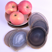 Super Big Natural Agate Slice Gems Crafts Stone Onyx Pad Coaster Cup Mug Glass Hot Beverage Holder Pad Mat Decorative Plates