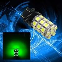 PA LED 2pcs x Super Bright 3157 Color GREEN 14V Motorcycle Brake Light 30SMD 5050 LED
