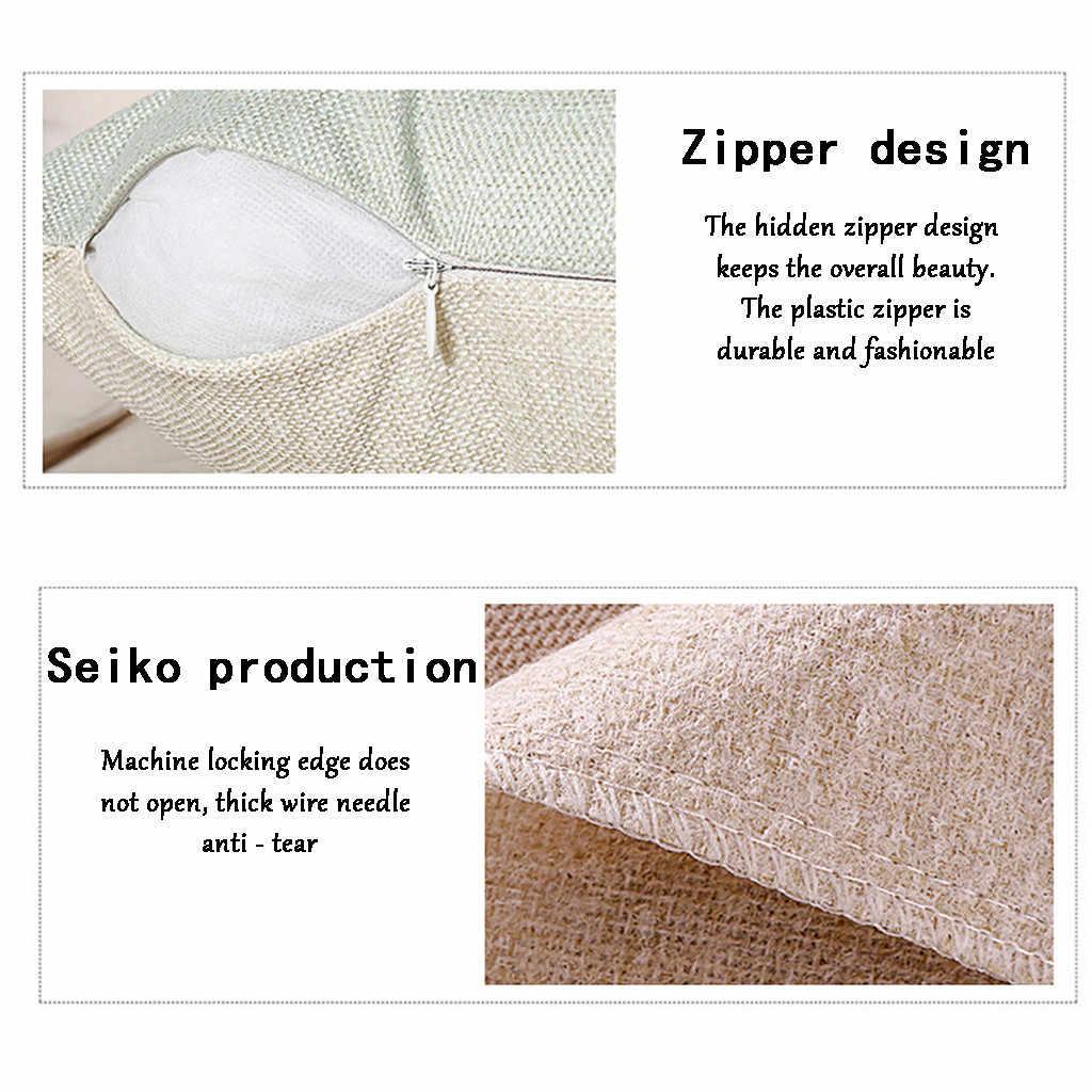 כרית כיסוי דקורטיבי בז 'פשתן כרית מקרה 2019 יפני סגנון 40x40cm 100% חדש ציפית בית דקורטיבי # p7
