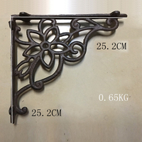 2pcs/ One Pair Antique Floral Cast Iron Decorative Shelf Brackets Wall Mounted Support