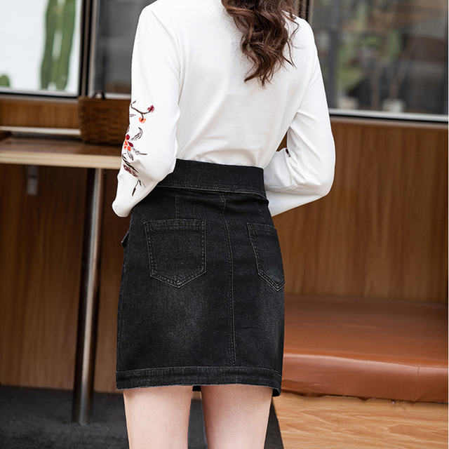 A-line Denim Skirts 1