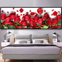 Large size picture Beautiful rose diamond Embroidery diy painting mosaic 3d cross stitch pictures H423