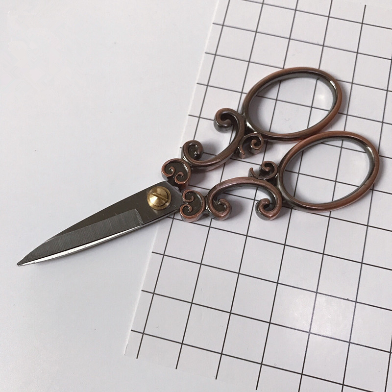 Retro Style Scissors Antique Cutter Cutting Embroidery Cross Stitch Sewing