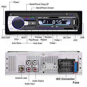 Image 2 - סאב וופר רכב רדיו סטריאו autoradio עם bluetooth ו usb 1.din radiao fm MP3 מולטימדיה מקלט fm הדיגיטלי dab רדיו מקלט