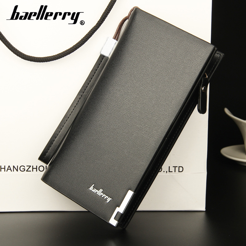 Long baellerry Male Designer Famous Brand Luxury Leather Men Wallet Clutch Bags Baellerry Purse Carteras Walet Money Portfel