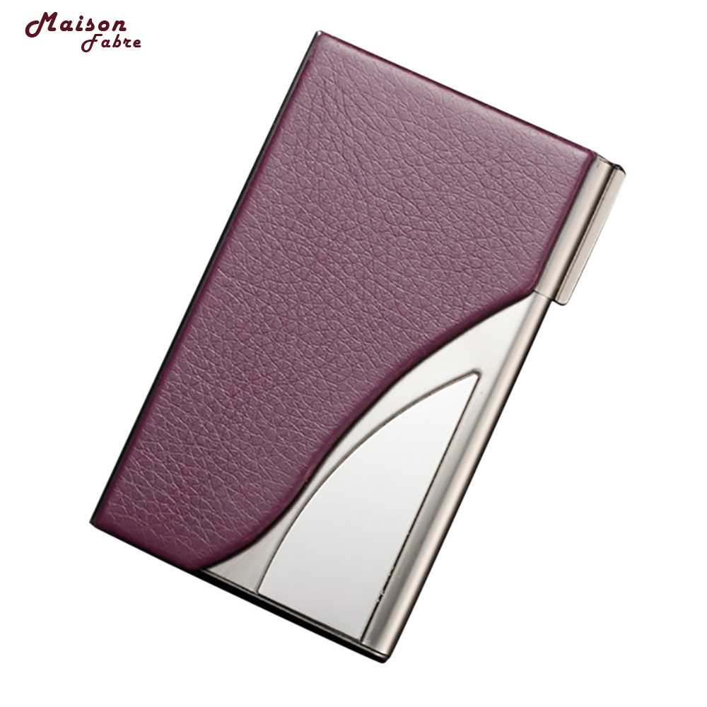 Maison Fabre Leather Stainless Steel Business Name Card Case Holder Dropshipping _Apr27 ...