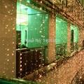 6 M x 3 M 600 LED de navidad de Hadas Cadena Boda Cortina Fiesta de Navidad al aire libre Luces Sueñan cambio de Flash blanco caliente fresco blanco