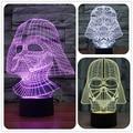 Creative Star Wars Lamparas 3D Led Darth Vader 7 Color Changing LED Desk Light Night Lamp USB Lava Lamp