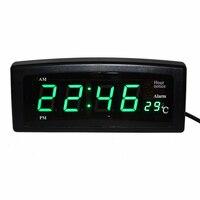 Desktop LED Digitale Klok Elektronische Wekkers Uursignaal Klok met Temperatuur Datum en Week voor Thuis Plank Kantoor Tafel