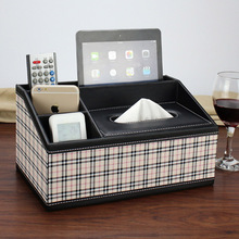 Korean style kawaii wooden PU leather office desk containing stationery office case storage box home office supplies wholesale