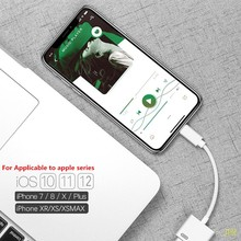 50pcs For apple Lightning Audio Charge Adapter for I Products