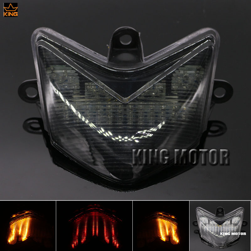 For KAWASAKI ZX-10R ZX10R 2004-2005 Motorcycle Accessories Integrated LED Tail Light Brake Turn signal Smoke motorcycle accessories adjustable brake clutch levers for kawasaki zx10r zx 10r 2004 2005 free shipping