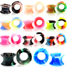 22pcs/sets Silicone Ear Piercings Gauges- Silicone Mixed Colors Ear Tunnel Ear Stretchers Gauges Plugs Gauge Body Jewelry пирсинг