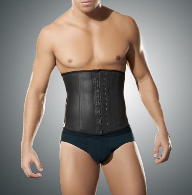 Homens corpo shaper espartilhos shapers do corpo quente trainer cintura látex cincher cintura Shapewear bodysuit do espartilho Masculino