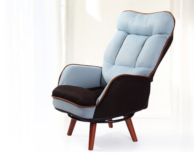 lounge chair for living room wooden low seat armchair sofa 360 degree swivel chair 19779
