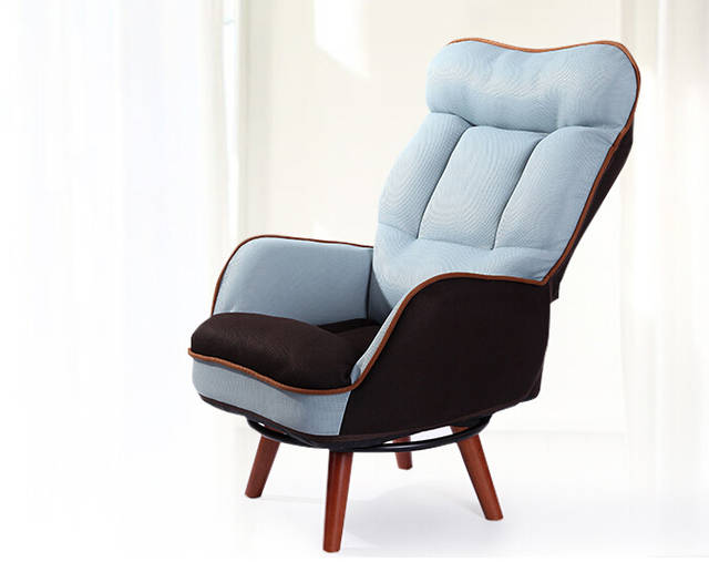 Us 179 1 10 Off Wooden Low Seat Armchair Sofa 360 Degree Swivel Chair Living Room Furniture Mid Century Single Couch Lazy Leisure Arm In