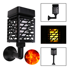 USB Rechargeable LED Solar Flame Light Garden light IP65 Outdoor Torch Spotlights Landscape Decoration led Lamp