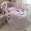 Baby bedding set 3pcs/set crib bedding set new arrival cute panda design 100% cotton for newborn best gift