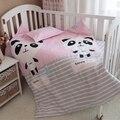 Fundamento do bebê set 3 pçs/set crib bedding set new arrival bonito panda projeto 100% algodão para recém-nascidos melhor presente