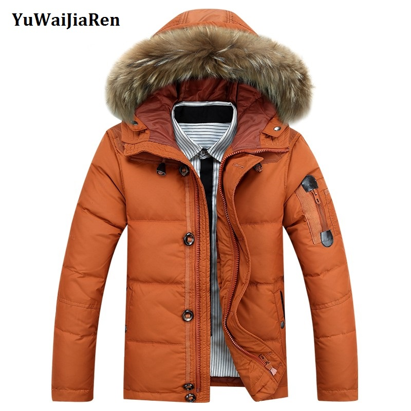 Parka De D'hiver Hommes Double orange Capuchon Avec Yuwaijiaren Coton Épaissir Noir Chaud Col Fourrure army Manteau Green À kaki Long Poche Conception wOqqx
