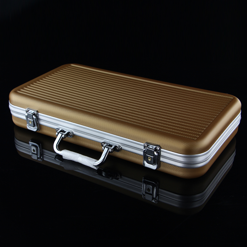 Hot Wholesale retail professional ABS chip boxes 300 codes yards chips poker coin carrying case champagne suitcase light stable hot chip hot chip why make sense lp