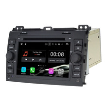 "2GB RAM 7"" 16GB ROM Quad Core Android 7.1.1 2 Din Car DVD Player Radio Multimedia for Toyota Prado Cruiser 120 2003-2009"