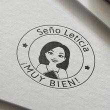 Sello personalizado en español, autoentintable, Muy Bien, para regalo, evaluación escolar, tiene hecho original, profe, gran maestro de trabajo