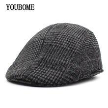 Youbome moda Boinas sombrero casquette sombreros de invierno para los  hombres masculina alcanzó Viseras gorras hombre b7feefee1ba