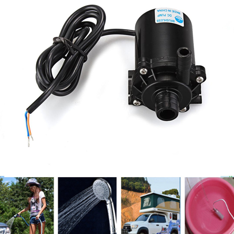 12V Submersible Water Pumps For Washer Tools Portable Camping Caravan Hiking Travel Pet Shower Pump Electric Car Plug Outdoor