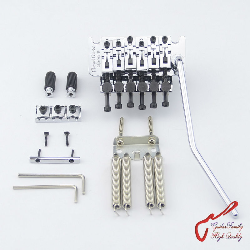1 Set GuitarFamily Tremolo System Bridge Chrome  ( Without Original Package ) MADE IN KOREA