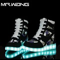 New  7 Colors camouflage Casual Flash Shoes Men Luminous Shoes High Top LED Lights USB Charging Colorful Shoes  DD-80