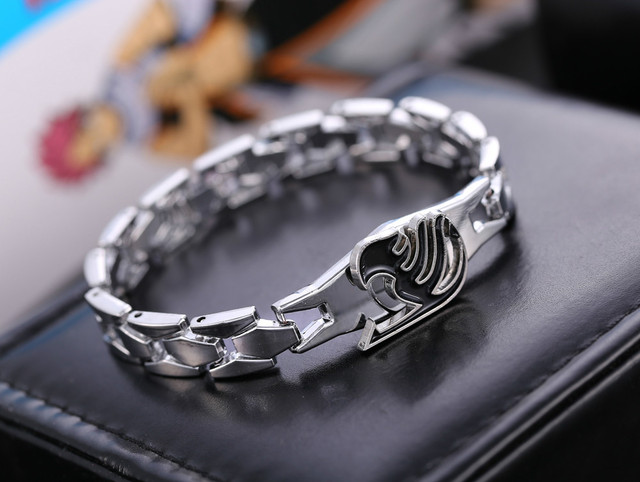 Fairy Tail Silver Alloy Bracelets